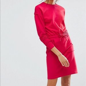 Sweat dress.Brand new.Size US 4.Color red